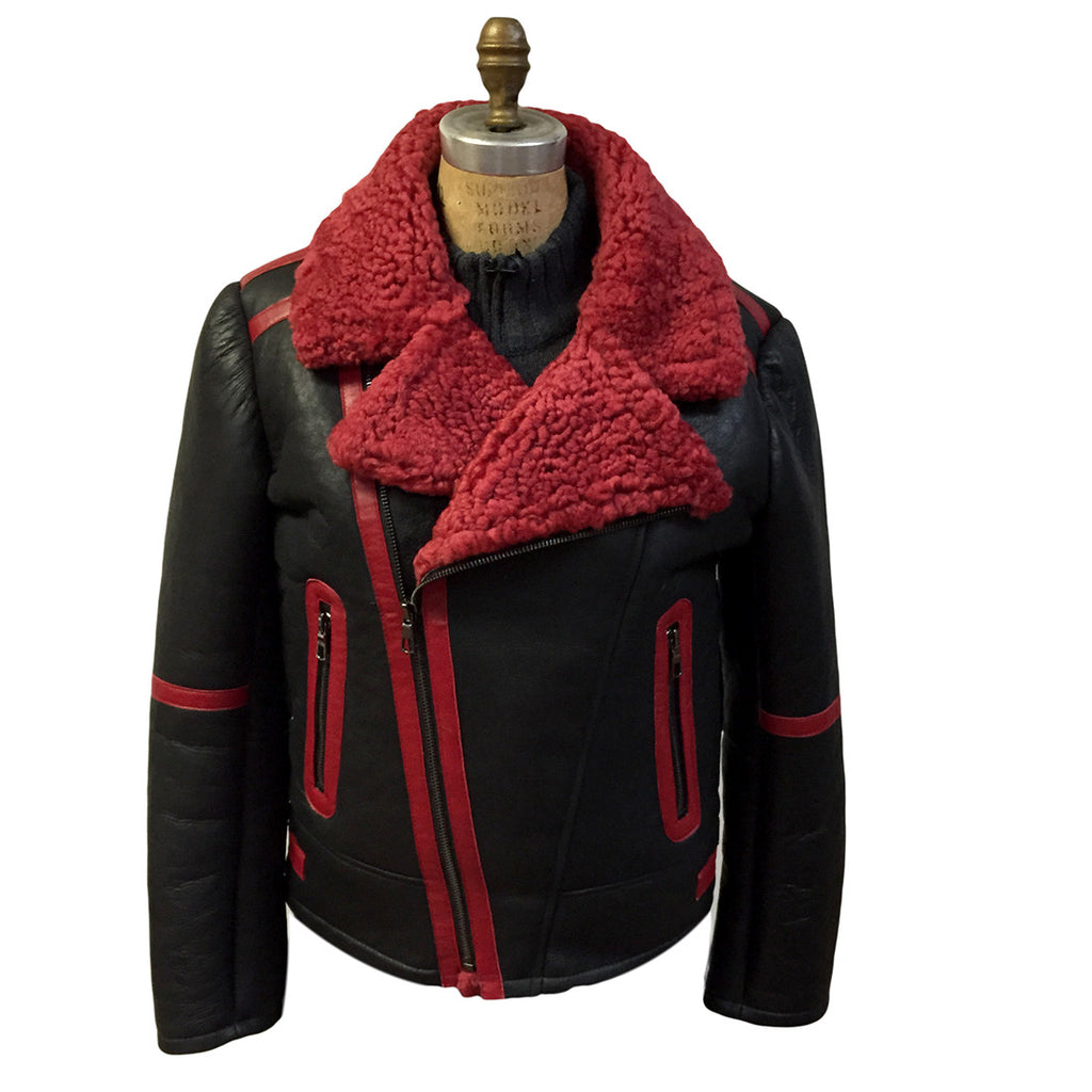 Jakewood - 5900 Shearling Biker Style Jacket - Dudes Boutique - 1