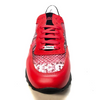 Mauri M728 Red Python Suede Sneakers - Dudes Boutique