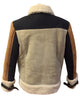 Jakewood - 710 Tobacco & Cream Shearling Bomber Jacket - Dudes Boutique - 3