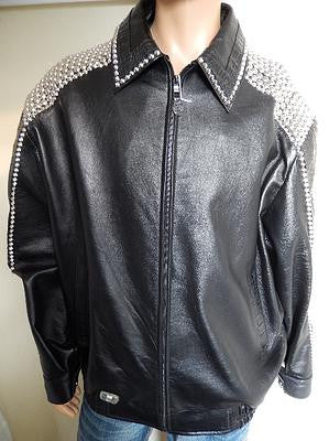 G Gator - Black Studded Crocodile Jacket - Dudes Boutique