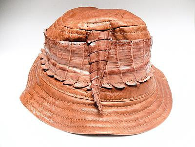 G Gator Crocodile x Lamb Skin Bucket Hat - Dudes Boutique