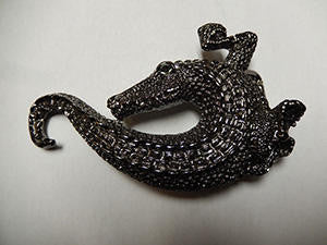 B.B. Simon Alligator Crystal Buckle - Dudes Boutique