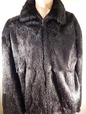 Grand Pieles 'Black' Beaver Fur Coat - Dudes Boutique