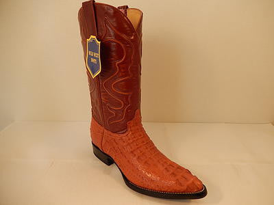 Wild West Boots Cognac Crocodile Cowboy Boot - Dudes Boutique - 1