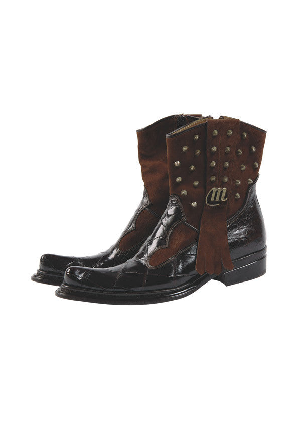 "Mauri - 7552 ""Apache"" Suede/Alligator Boot - Dudes Boutique"