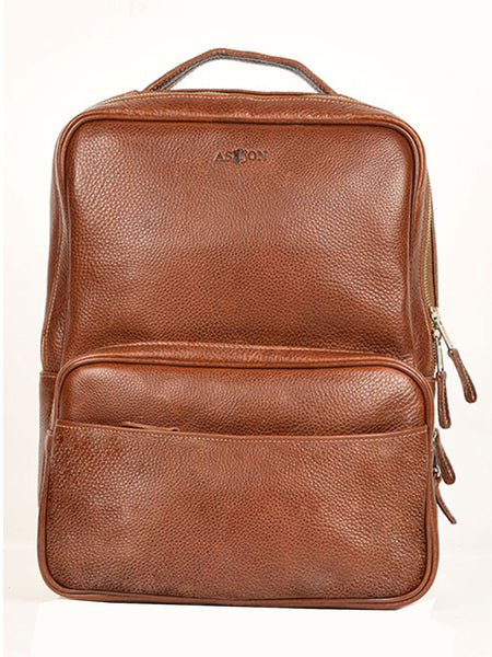 Aston Leather 780BP Clinton Zippered Backpack - Dudes Boutique