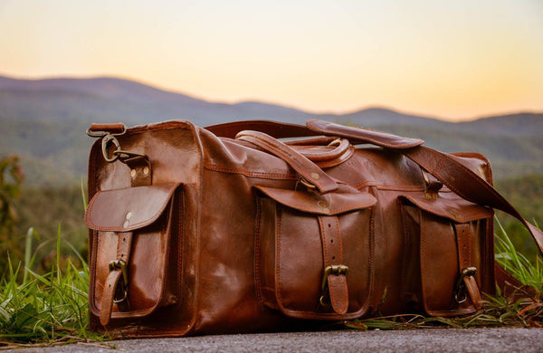 Johnny Fly Co. Leather Overhead Duffle Bag