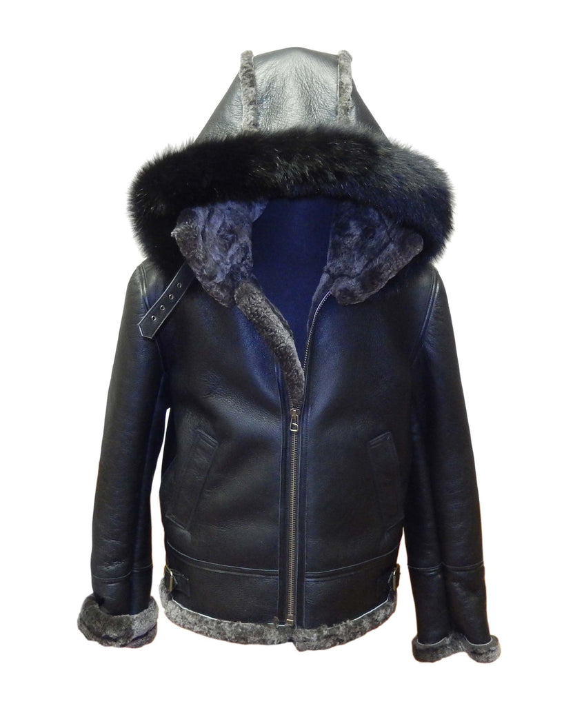 Jakewood - 800 Aviator Shearling Jacket - Dudes Boutique - 4
