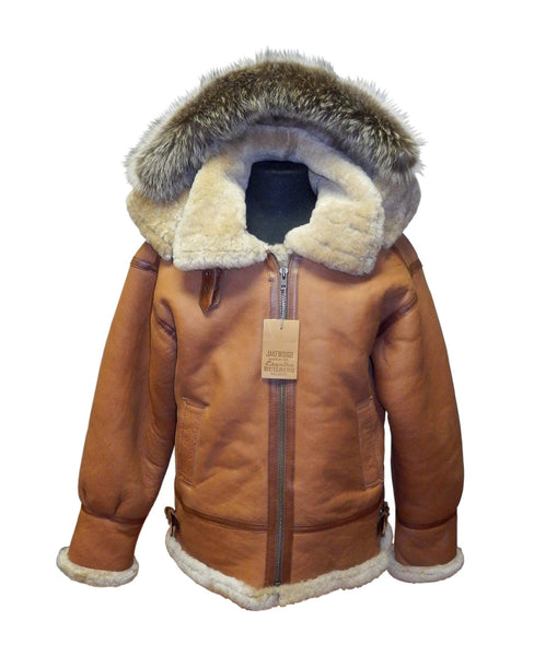 Jakewood - 800 Aviator Shearling Jacket - Dudes Boutique - 1
