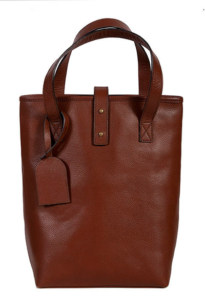 Scully Pebble Grain Calf Leather Wine Bag