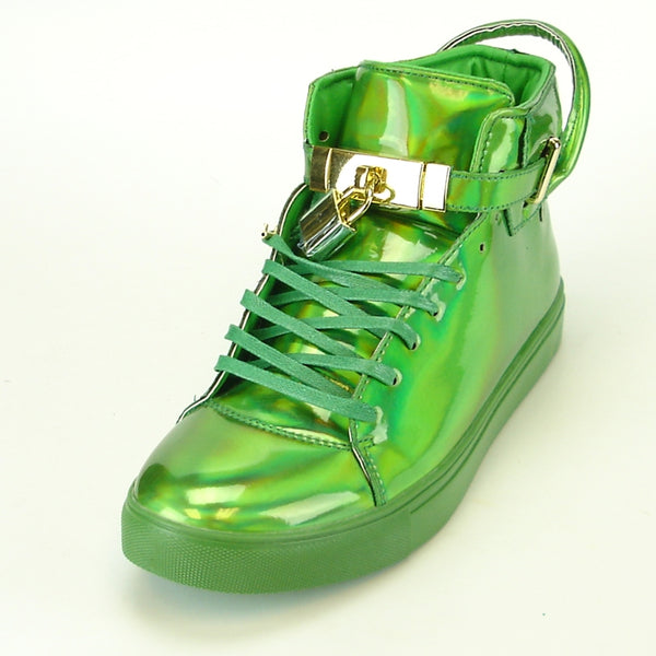 Encore Green Reflective Lock & Key Sneakers - Dudes Boutique