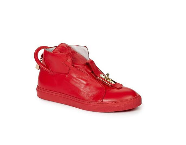 "Mauri 6115 ""Lock & Key"" Nappa Leather High-top Sneakers"