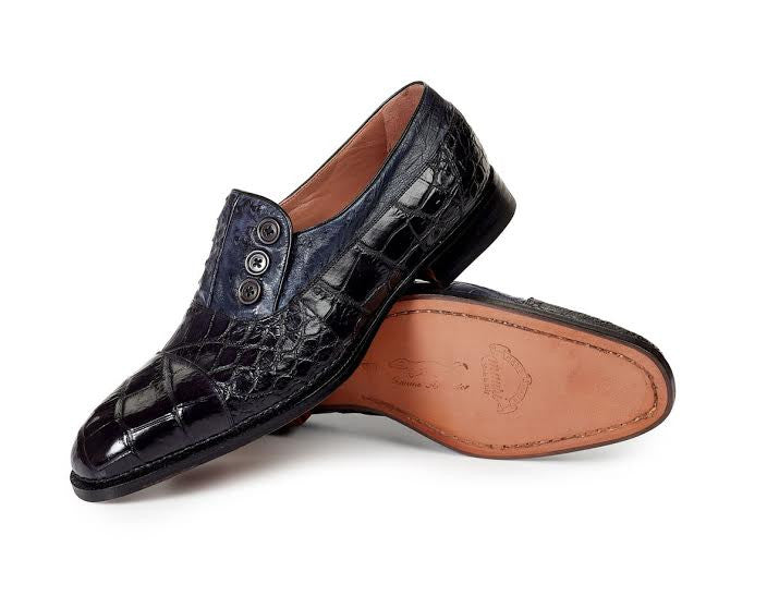 Mauri - 1036 Insignia Body Alligator & Ostrich Hand Painted Dress Shoes - Dudes Boutique