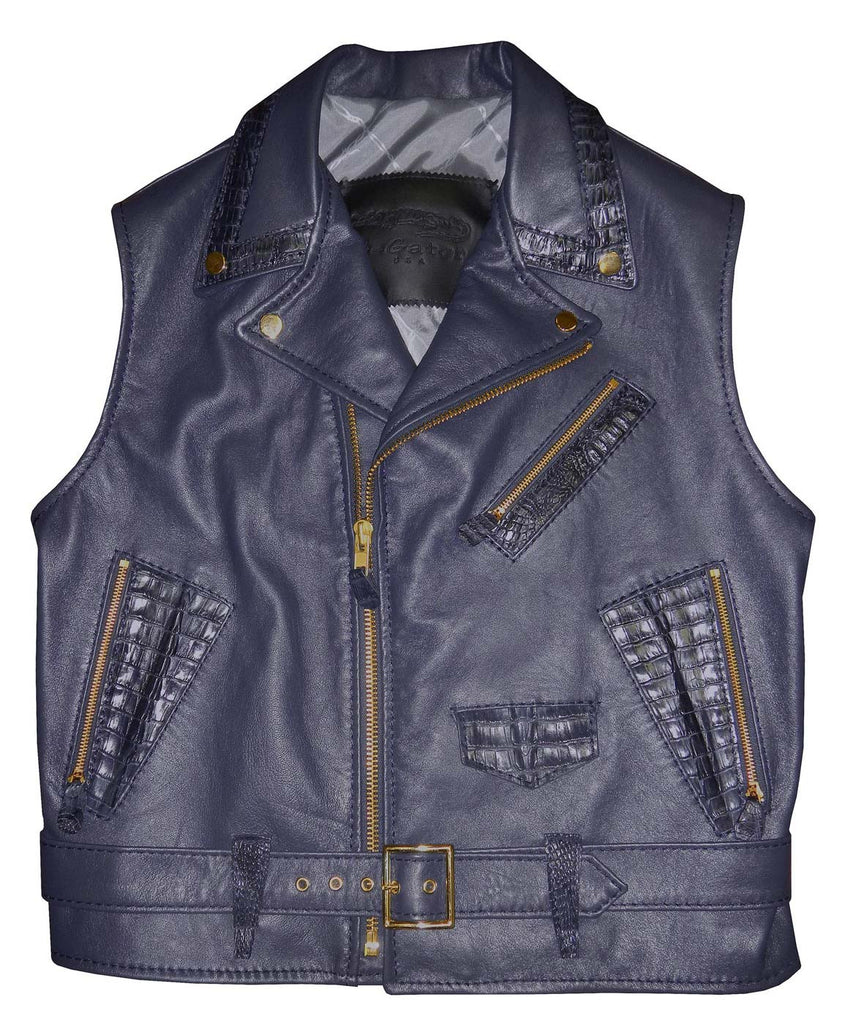 G-Gator - 903 Lambskin/Alligator Vest - Dudes Boutique
