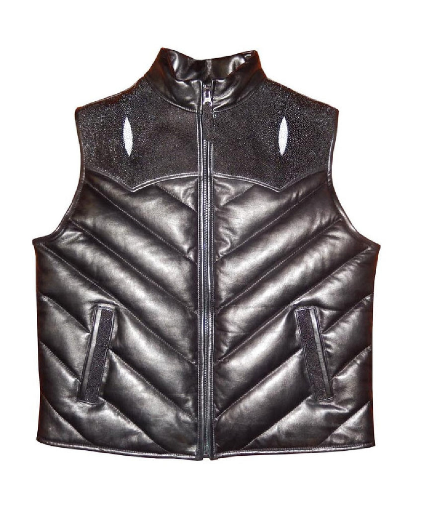 G-Gator - 910Q Quilted Lambskin/Stingray Vest - Dudes Boutique
