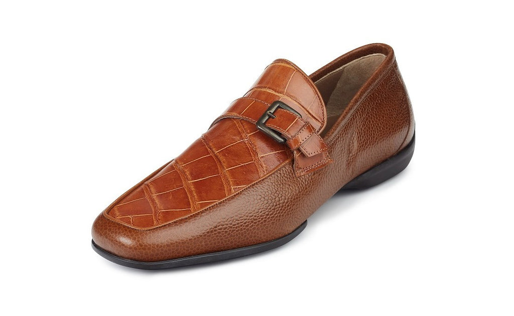 "Mauri - ""9259/1 Fontana"" Pebble Grain Alligator Loafer - Dudes Boutique - 1"