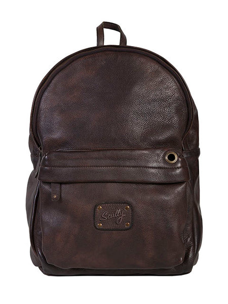Scully Chocolate Lambskin Backpack