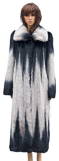 Winter Fur - W59F06GRT Women's 7/8 Mink Jacket in Grey - Dudes Boutique