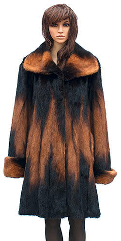 Winter Fur - W59Q06WKT Women's 3/4 Mink Jacket in Whiskey - Dudes Boutique