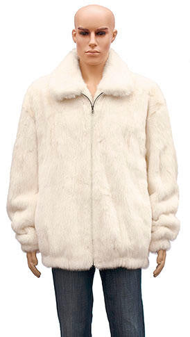 Winter Fur - M59R01WT White Mink Jacket - Dudes Boutique