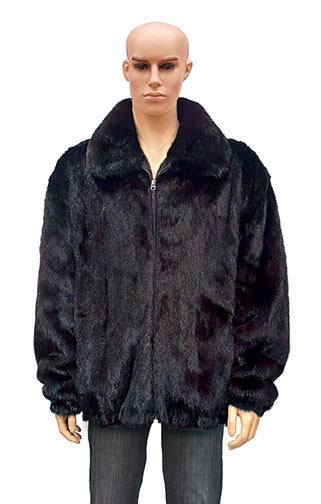 Winter Fur - M59R01BDT Burgundy Mink Jacket - Dudes Boutique
