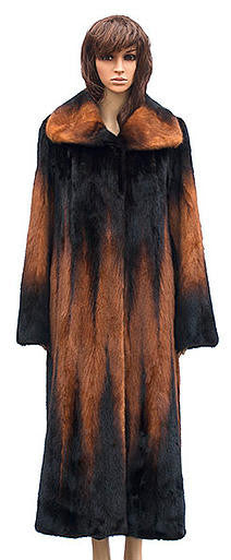 Winter Fur - W59F06WKT Women's 7/8 Mink Jacket in Whiskey - Dudes Boutique
