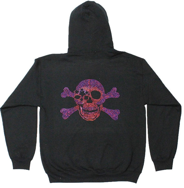 b.b. Simon Volcano Skull Fully Loaded Swarovski Crystal Hoodie