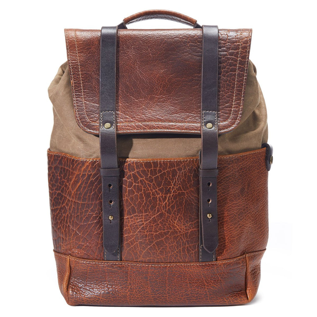 Coronado Leather 515 Redwood Bison Backpack - Dudes Boutique
