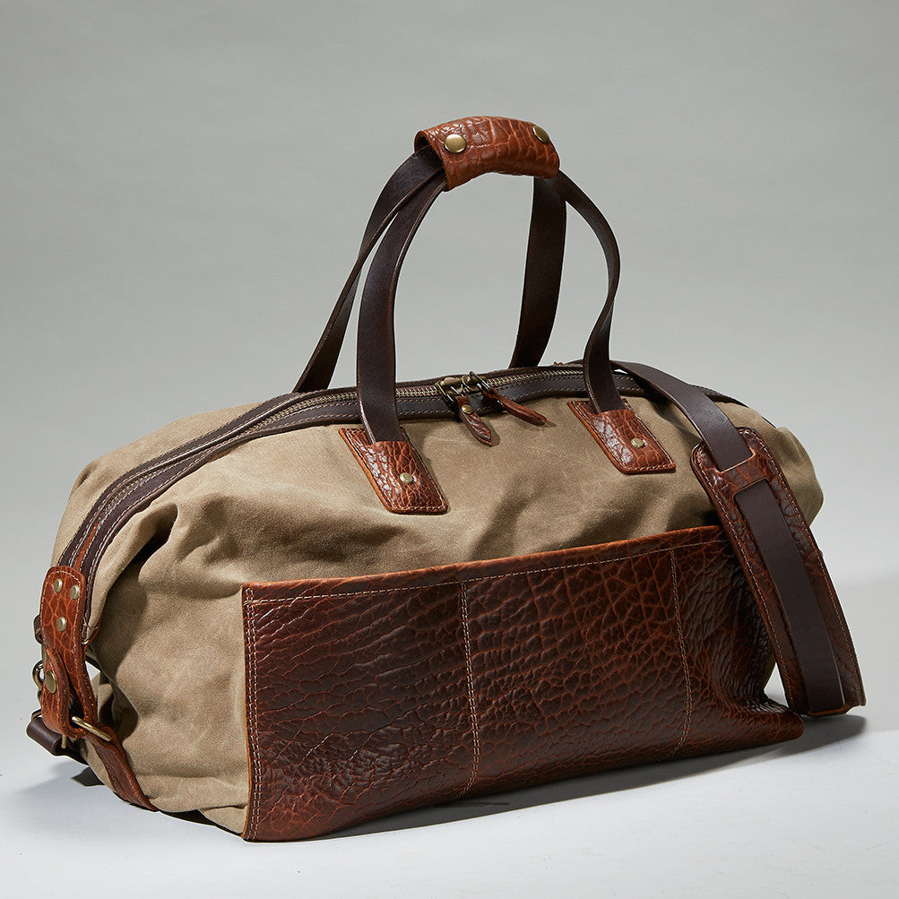 Coronado Leather Bison Redwood Duffel - Dudes Boutique