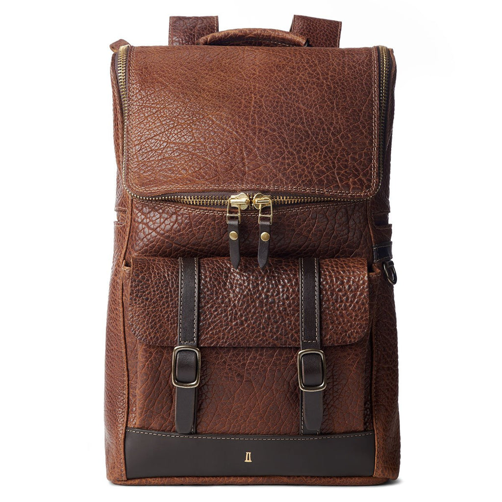 Coronado Leather No.740 Top Zip Bison Backpack - Dudes Boutique