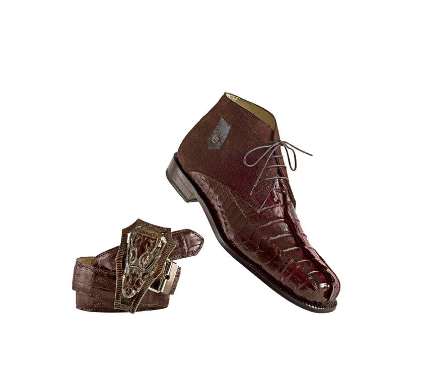 "Mauri 2831 ""Chicago"" Ostrich Leg/Hornback Tail/Calf Ankle Boot - Dudes Boutique"