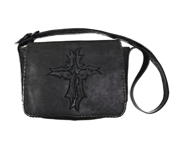Kashani Leather and Stingray Cross Bag - Dudes Boutique