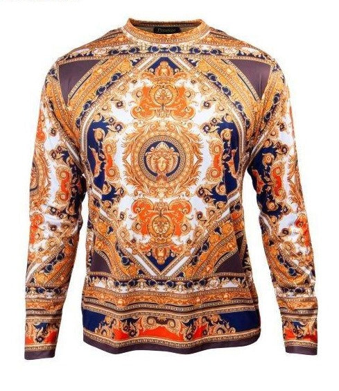 Prestige Majestic Gold Medusa Multi-color L/S Shirt - Dudes Boutique