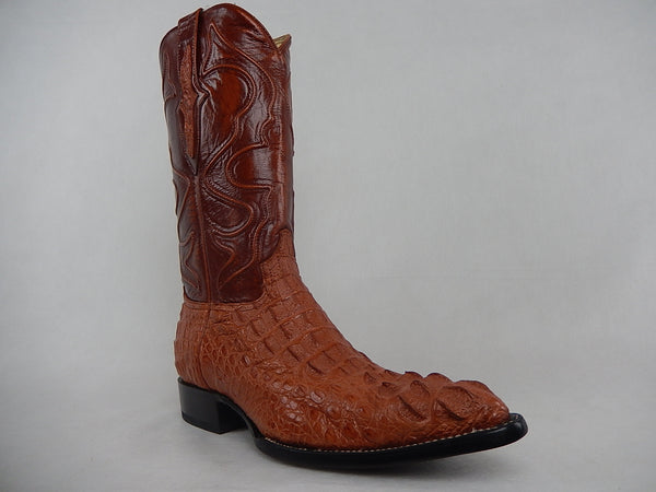 Wild West Boots Cognac Crocodile Cowboy Boot 900203 - Dudes Boutique
