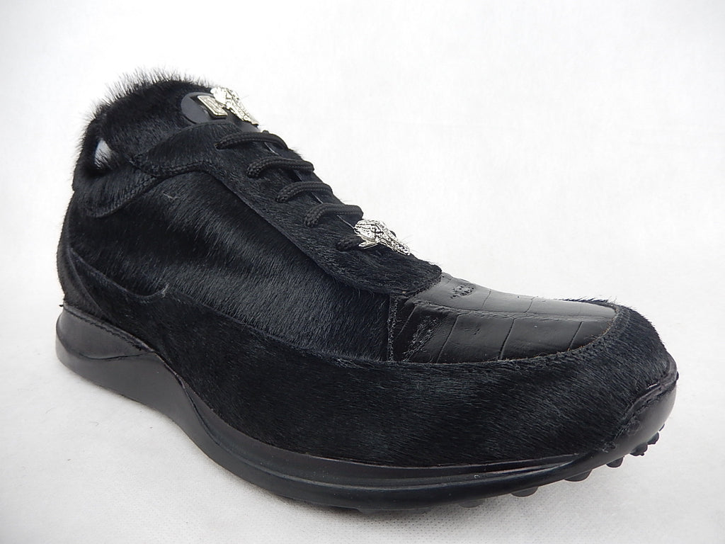 Mauri Pony Hair and Alligator Sneakers 8900/2 - Dudes Boutique - 1