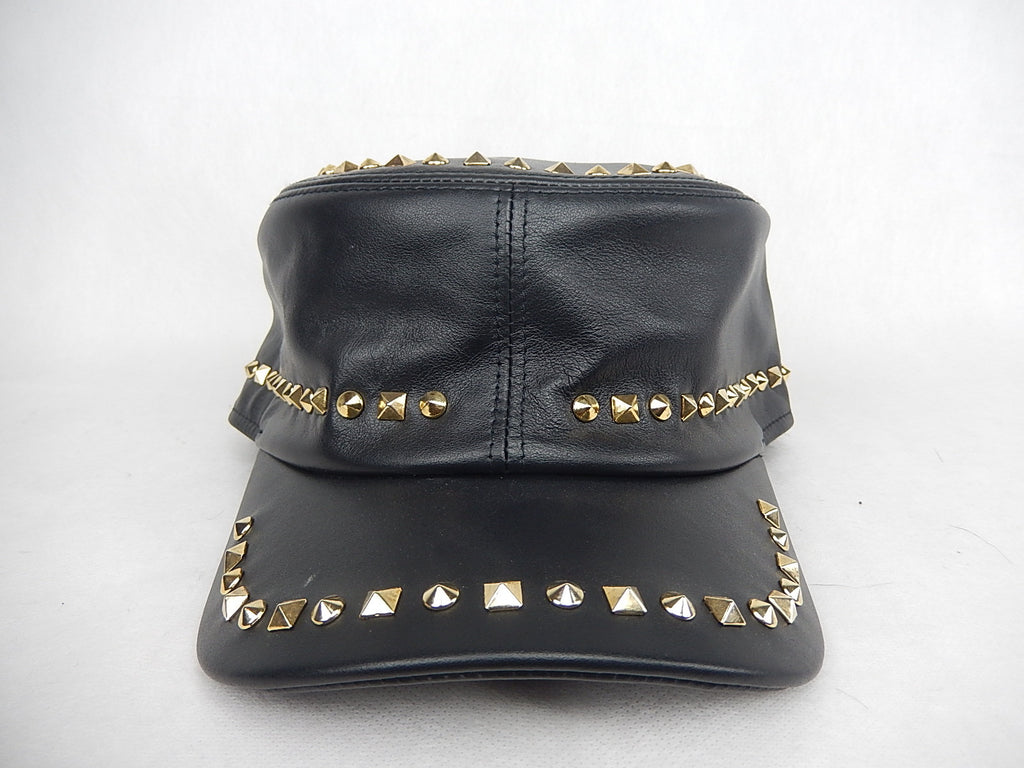 Mauri Gold Studded Hat - Dudes Boutique - 1