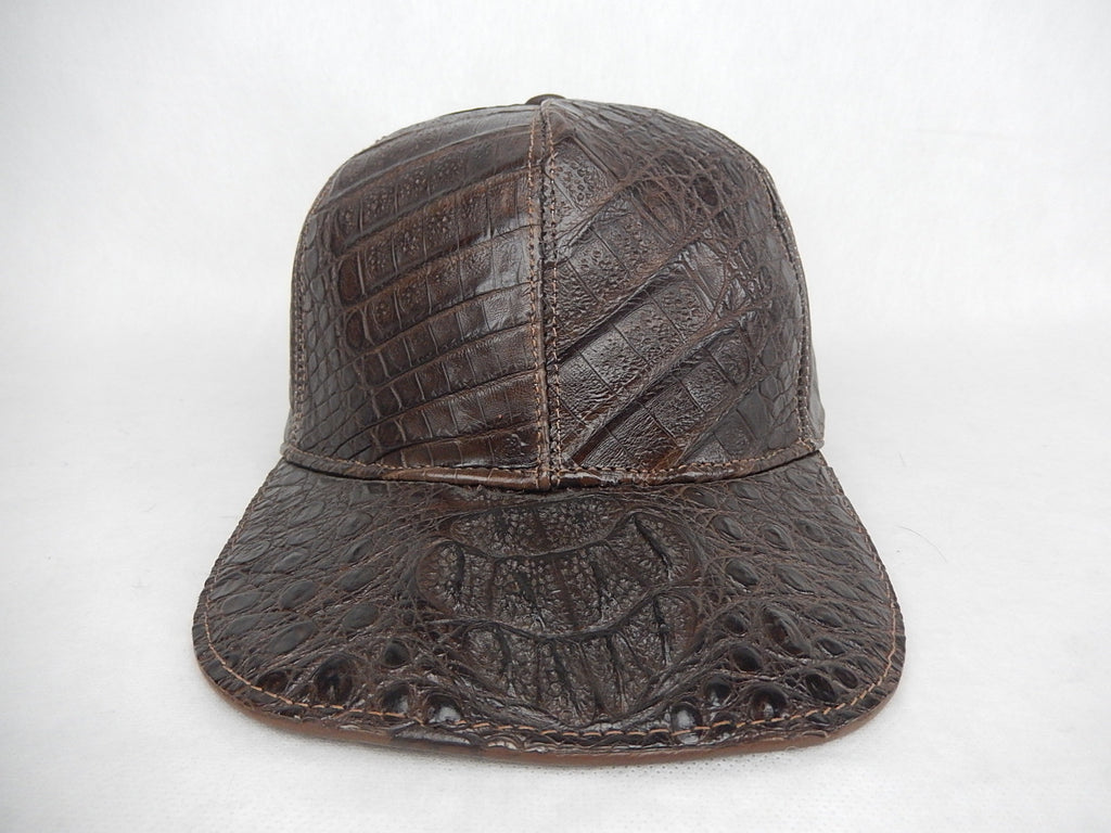 Brown Alligator Cap - Dudes Boutique