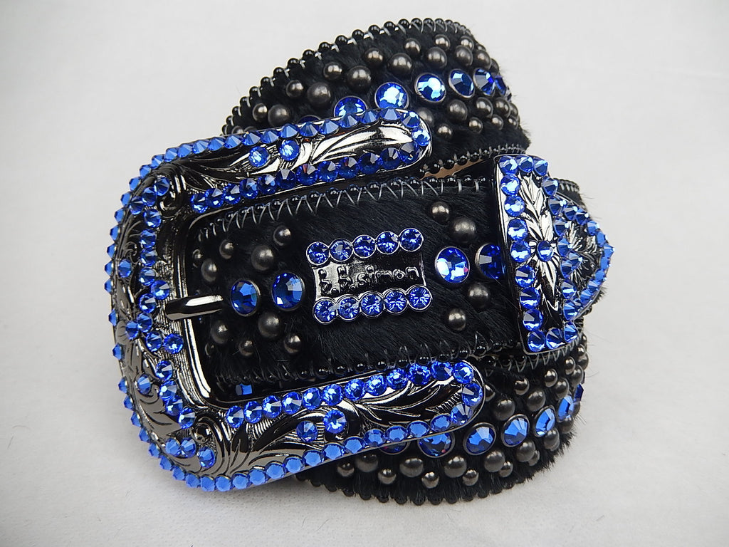 B.B. Simon ' Sapphire Royalty' Swarovski Crystal Belt - Dudes Boutique