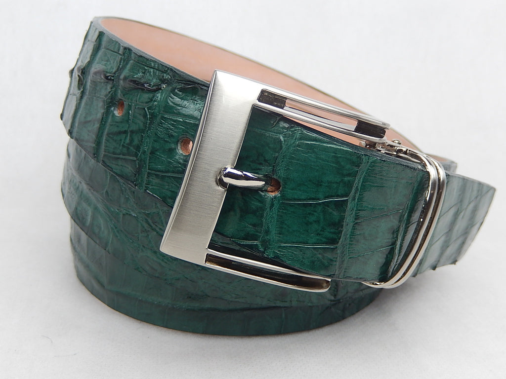 G-Gator Hornback Crocodile Green Belt - Dudes Boutique - 2
