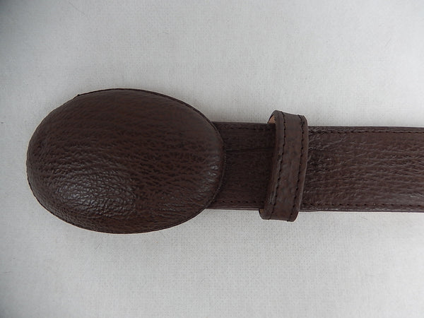 Wild West Boots Chocolate Shark Skin Belt - Dudes Boutique - 1