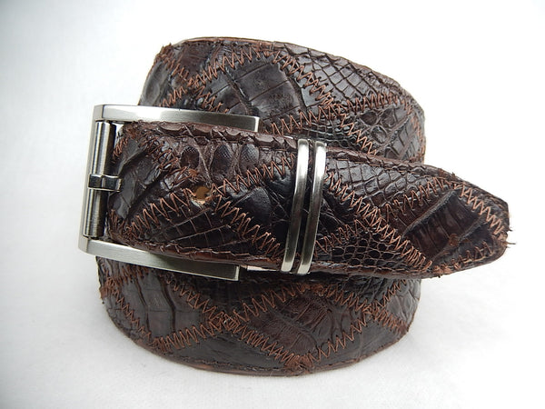 Safari Crocodile Cross Stitch Belt - Dudes Boutique - 1