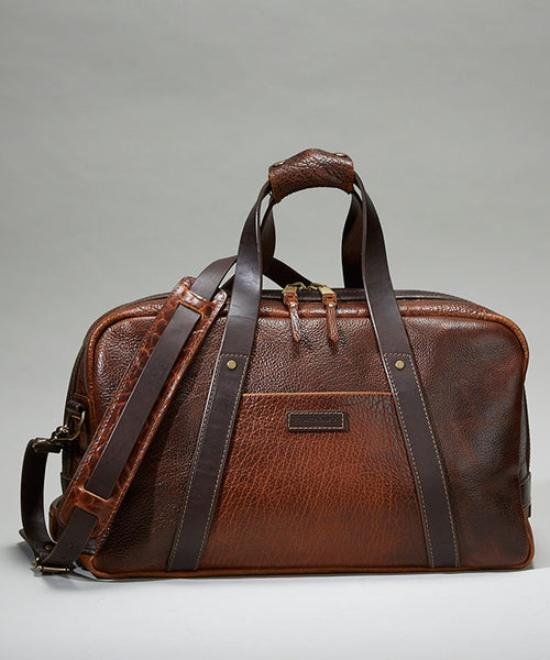 Coronado Leather Bison Weekender Bag