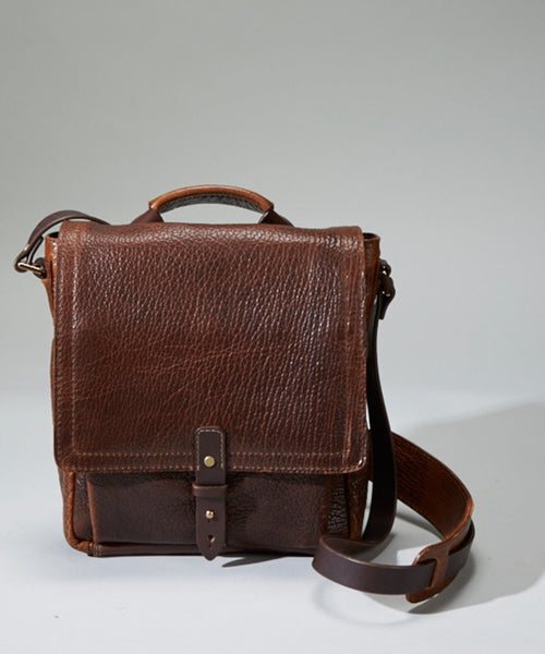 Coronado Leather Bison Crossbody Bag - Dudes Boutique