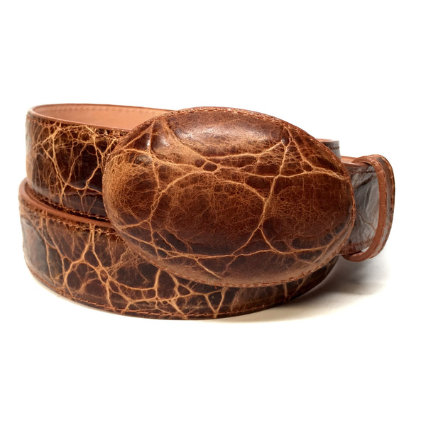 Los Altos Boots Brown Distressed Leather Belt - Dudes Boutique