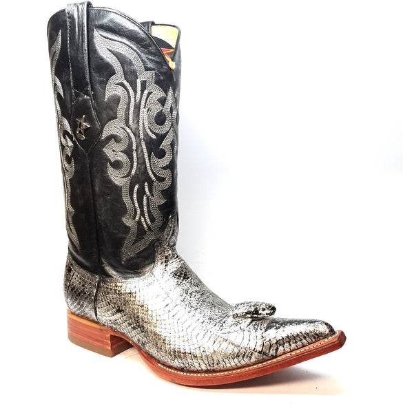 Los Altos Women's Silver Cobra Head Cowboy Boots