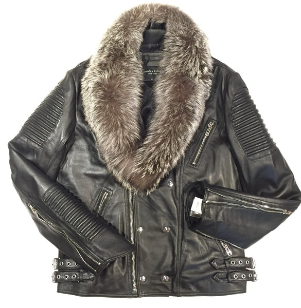 Mason & Copper Fox Collar Biker Jacket