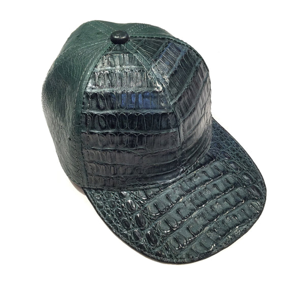Safari Money Green Alligator/Ostrich Quill Strap back Hat