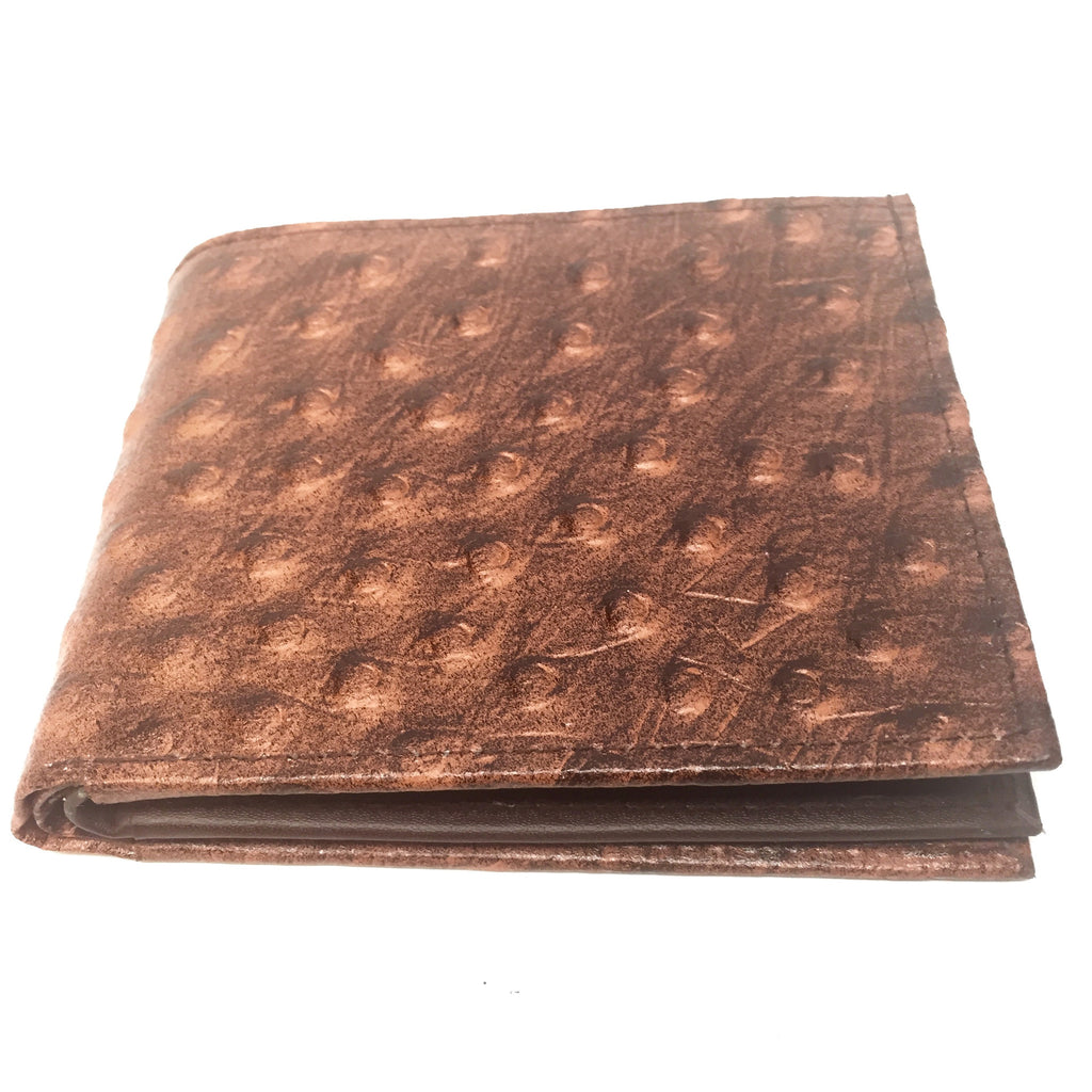 Leather Impressions Ostrich Belly Print Leather Wallet - Dudes Boutique - 3