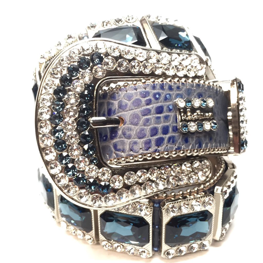 "B.B. Simon "" Royal Sapphire"" Swarovski Crystal Belt - Dudes Boutique"