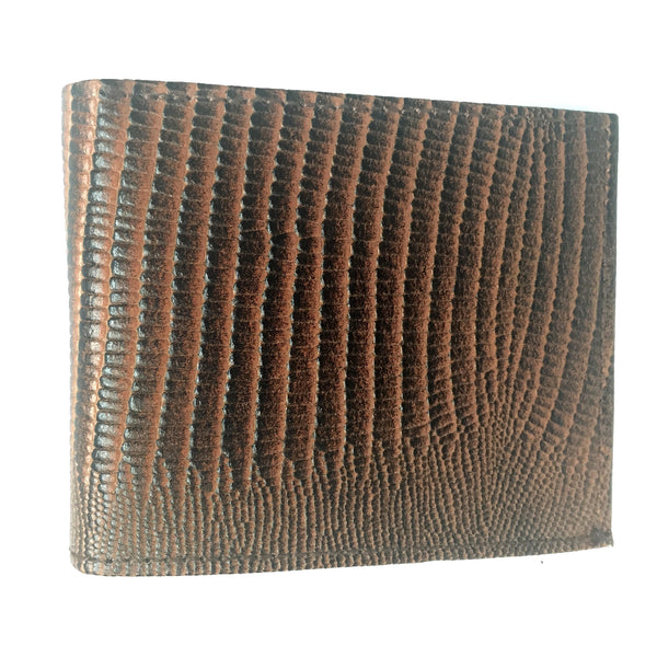 Leather Impressions Lizard Print Leather Bi-fold Wallet - Dudes Boutique